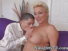 Naughty TJ Unleashes Huge Cock